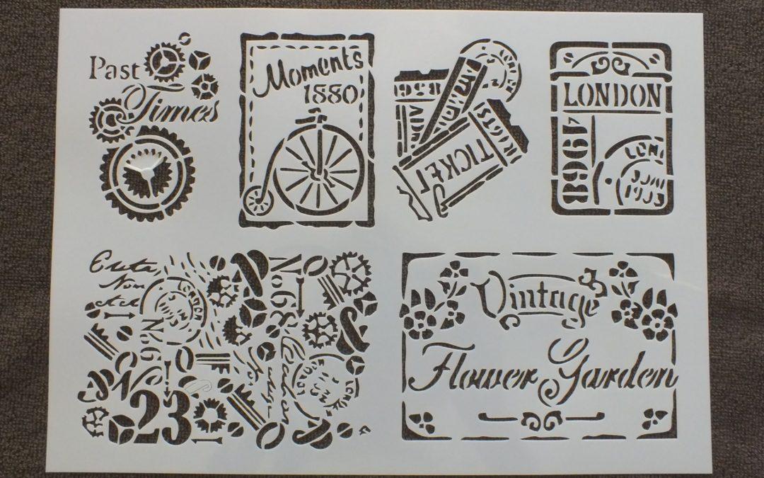 Pochoirs Vintage : La petite touche pour parfaire votre décoration !