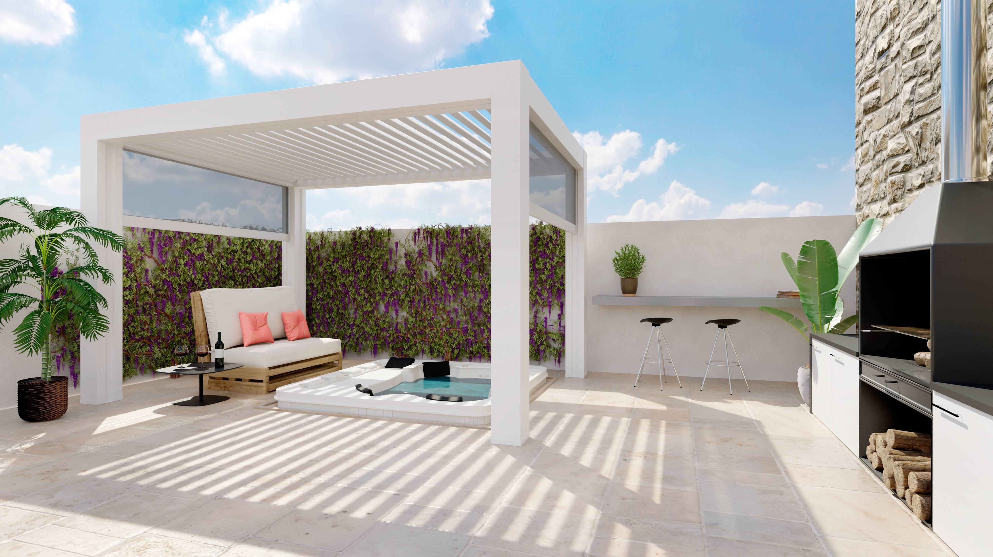 terrasse jardin palettes en bois salon