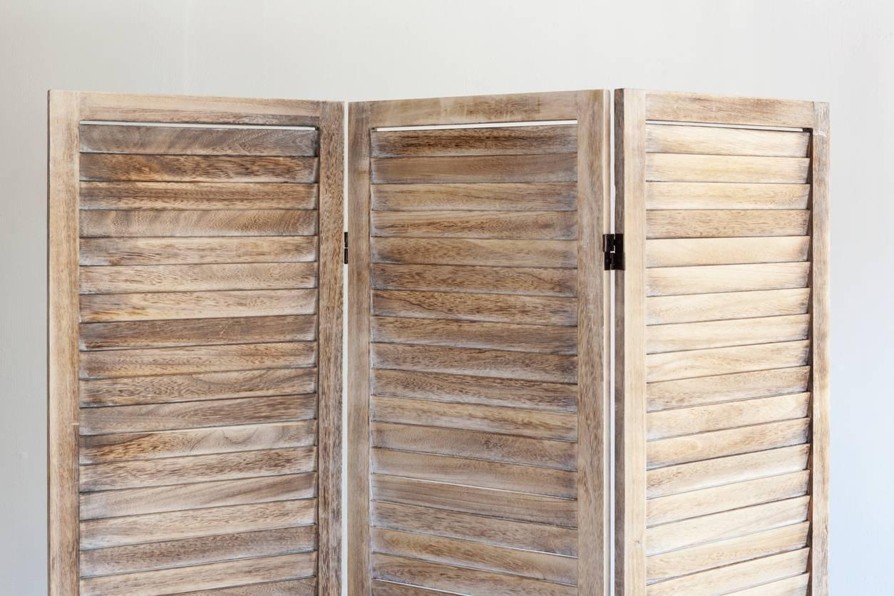 aménagement intérieur paravent en bois